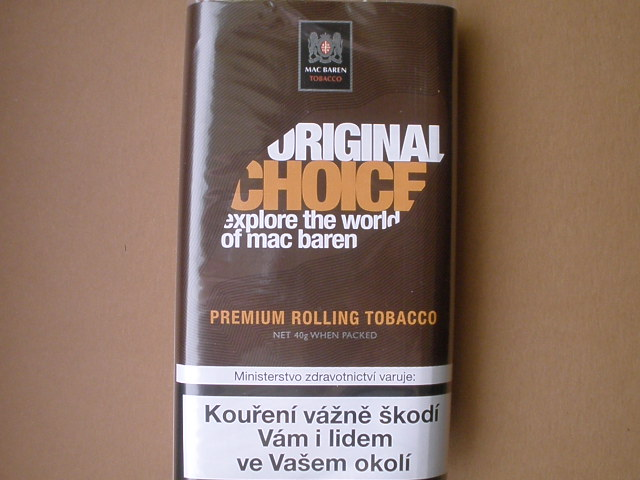 cigaretový tabák Mac Baren Original Choice 40g