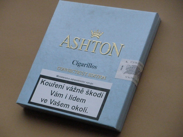 doutníky Ashton Small Blue Cigarilos /10