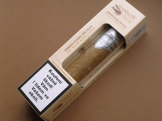 doutník Stanislaw Cigars Robusto Glass Set