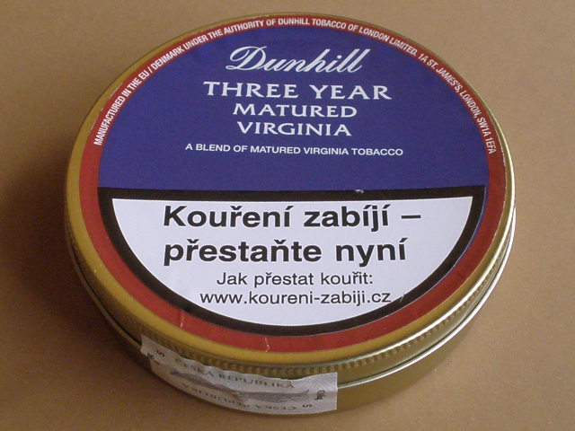 dýmkový tabák Dunhill Three Year Matured Virginia 50g