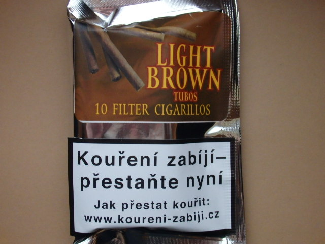 doutníky Filter - Tubos Cigarillos Light Brown /10