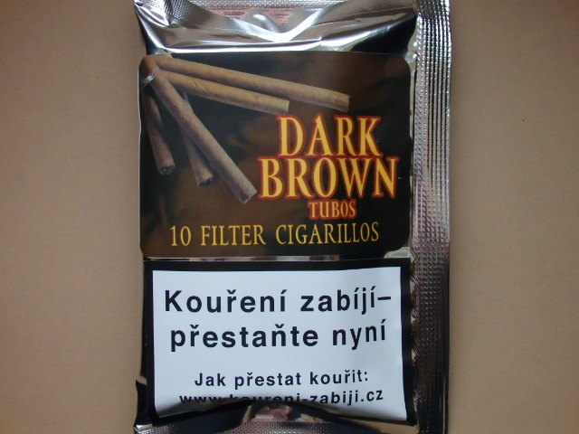 doutníky Filter - Tubos Cigarillos Dark Brown /10