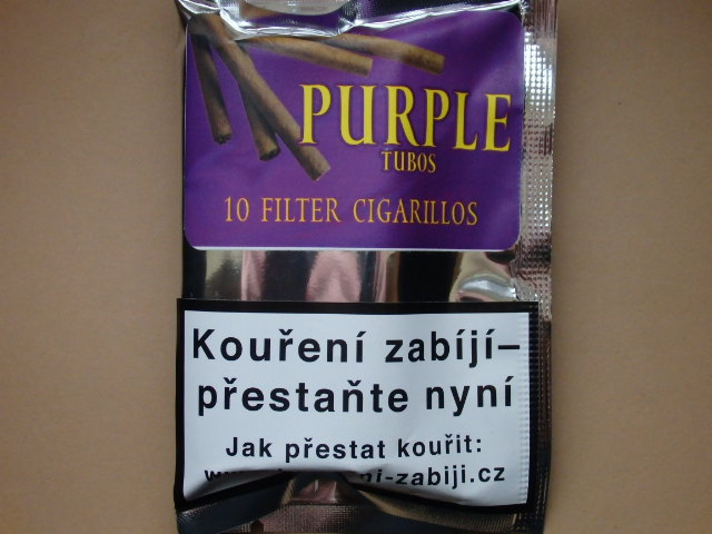 doutníky Filter - Tubos Cigarillos Purple /10
