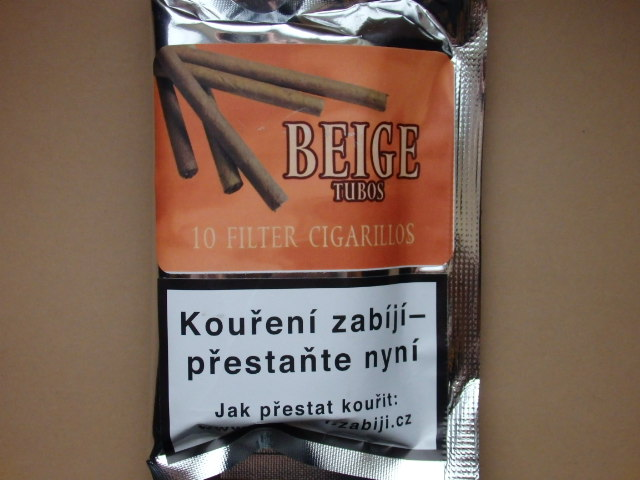 doutníky Filter - Tubos Cigarillos Beige /10