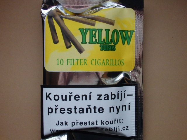 doutníky Filter - Tubos Cigarillos Yellow /10